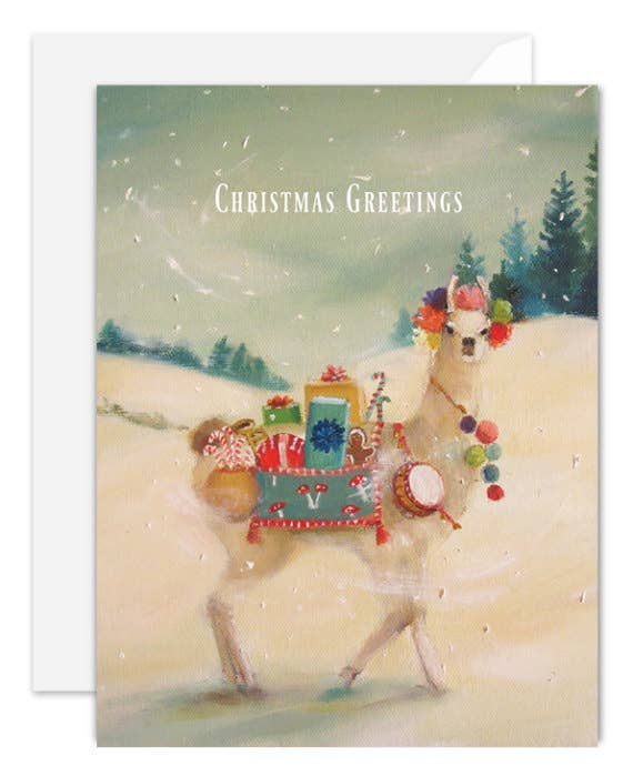 Janet Hill Studio - The Northern Christmas Llama Card
