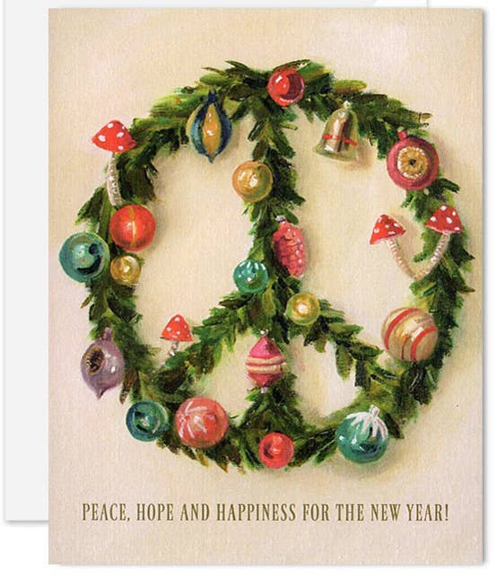 Janet Hill Studio - Peace Wreath Card