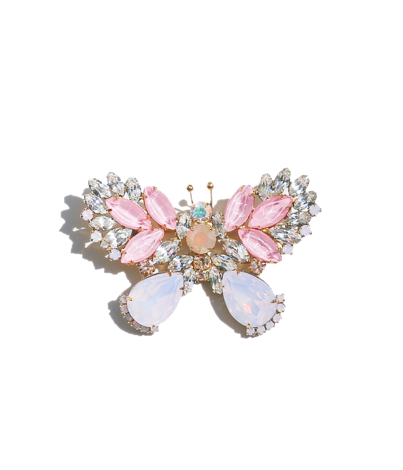 Small Butterfly in Blush / Crystal / Rose Opal
