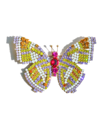 Large Butterfly in Violet / Citrine / Topaz