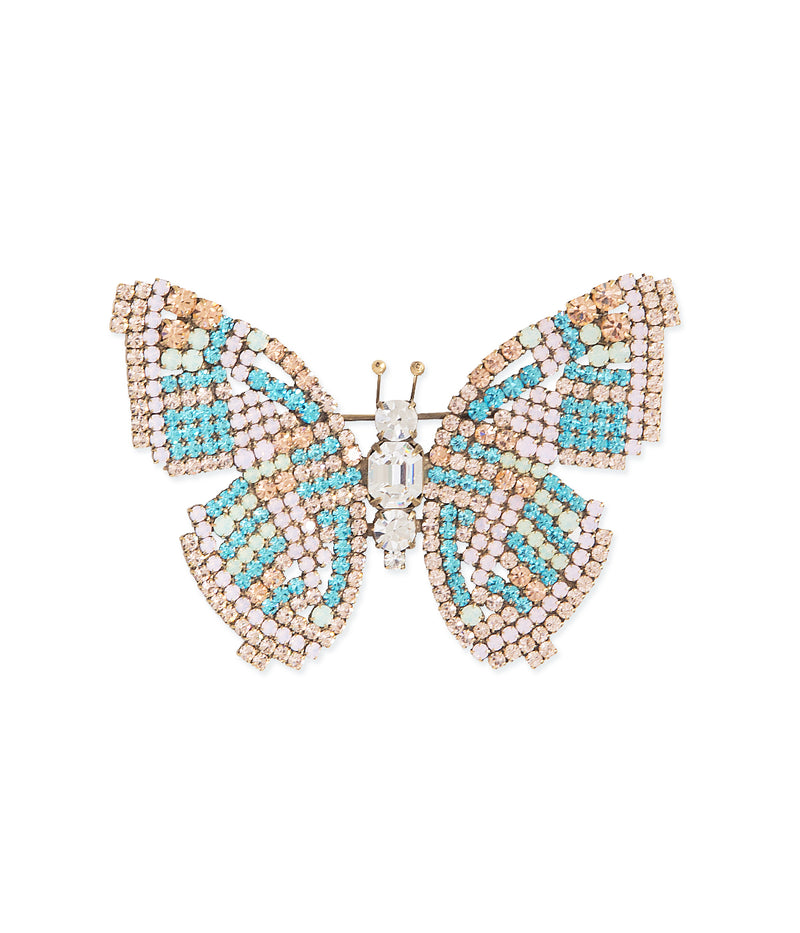 Large Butterfly in Aqua / Light Peach / Mint
