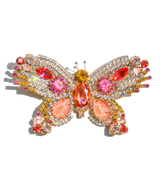 Extra Large Butterfly in Light Peach / Rose / Hyacinth
