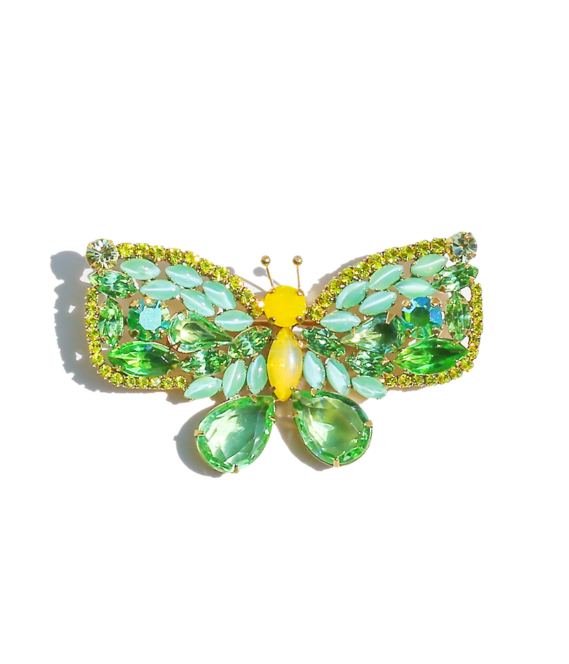 Medium Butterfly in Peridot / Citrine