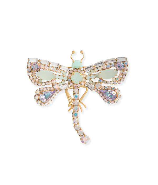 Small Dragonfly in Iridescent / Mint