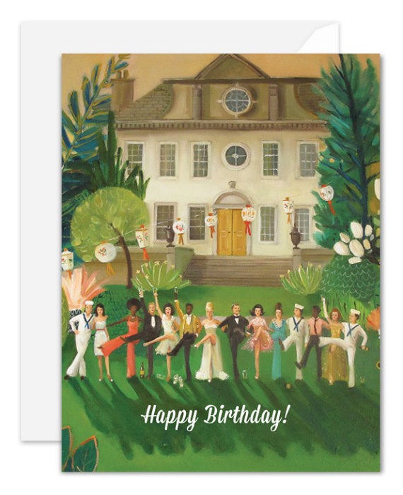 Janet Hill Studio - Whiskey Sour High Kick Birthday Card