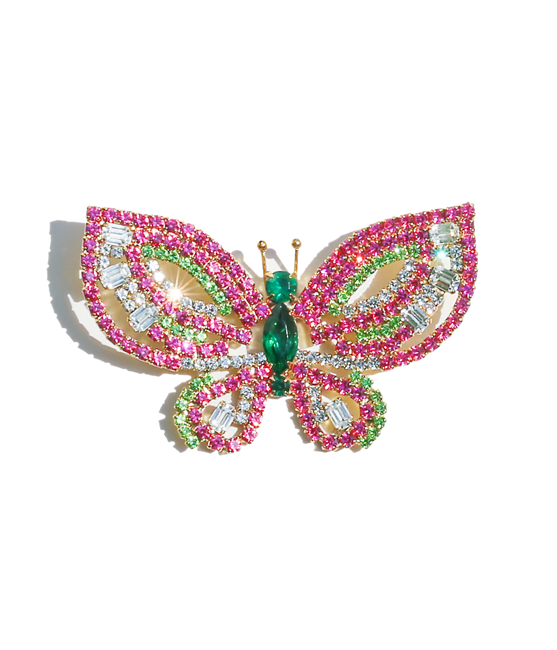 Medium Butterfly in Rose / Peridot / Emerald