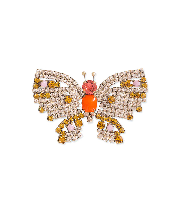 Small Butterfly in Light Peach / Topaz / Padparadscha