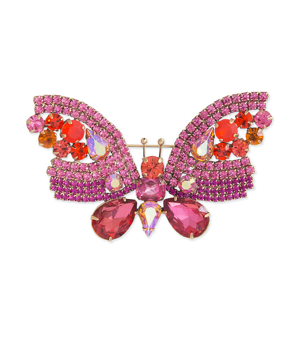Large Butterfly in Rose / Hyacinth