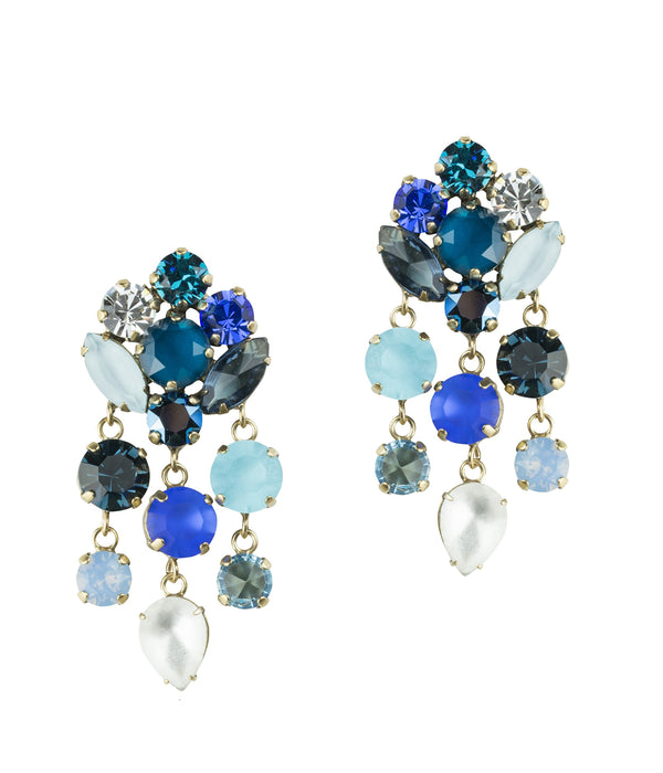 Abby Statement Earring in Blue