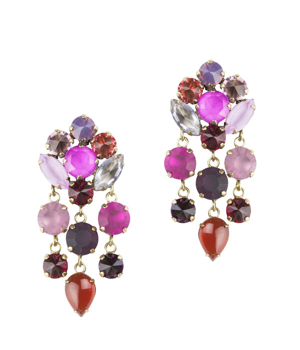 ABBY STATEMENT EARRINGS IN PURPLE