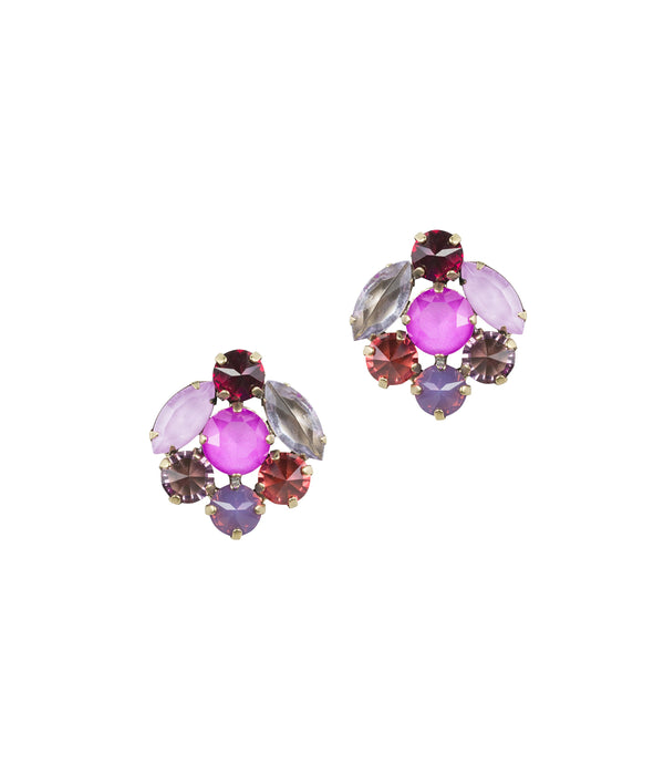 ABBY STUDS IN PURPLE
