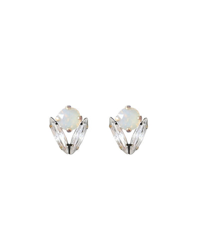 ARISTA STUDS IN GREY OPAL