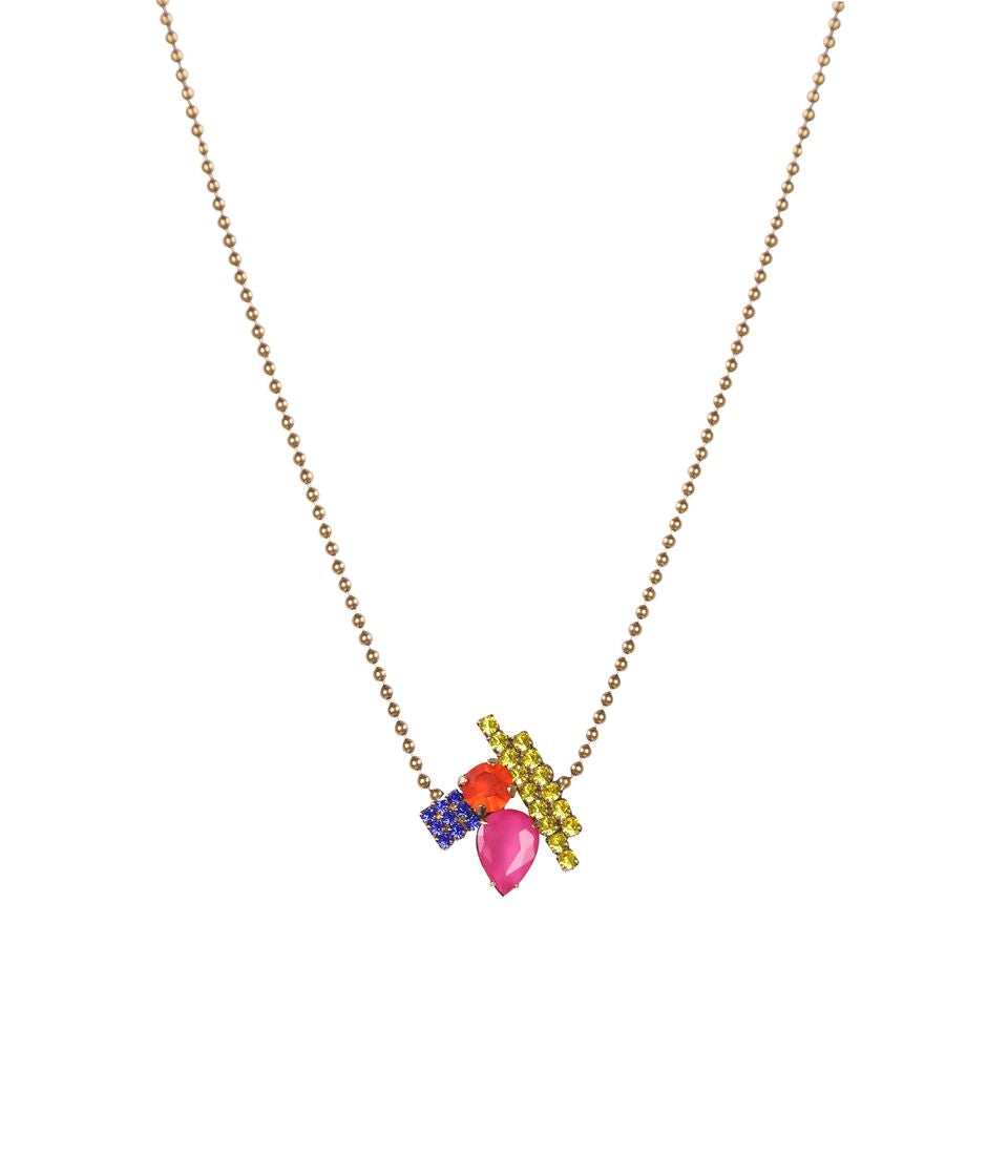 heart necklaces delicate necklace linked rose happiness gold boutique en