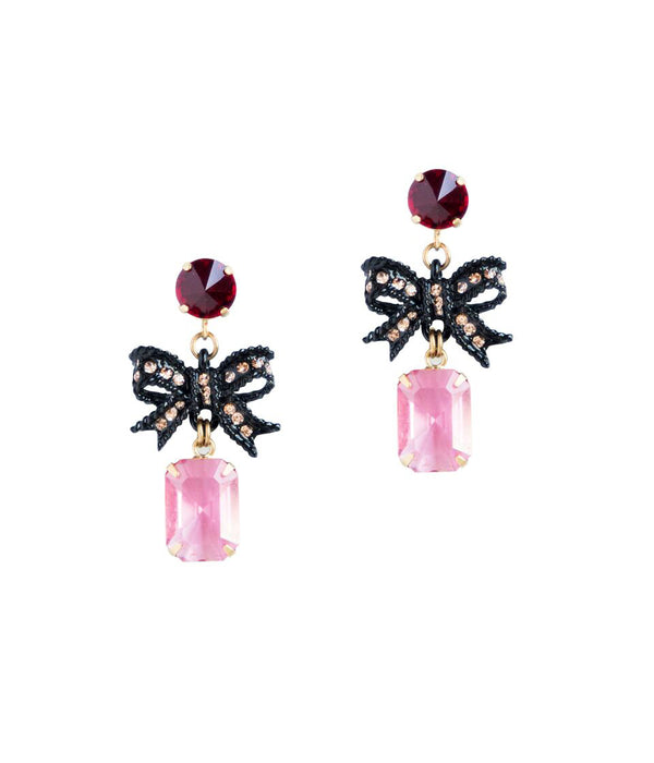 Betty Bow Earrings in Pink