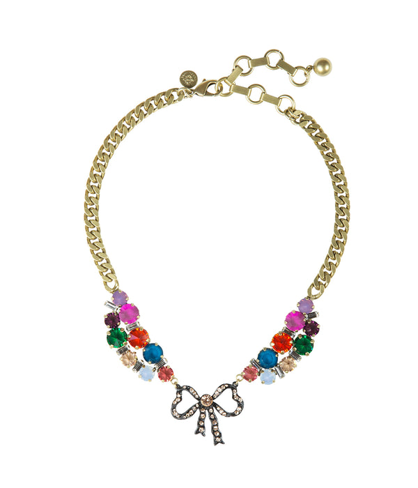 BETTY BOW SHORT NECKLACE IN MULTI