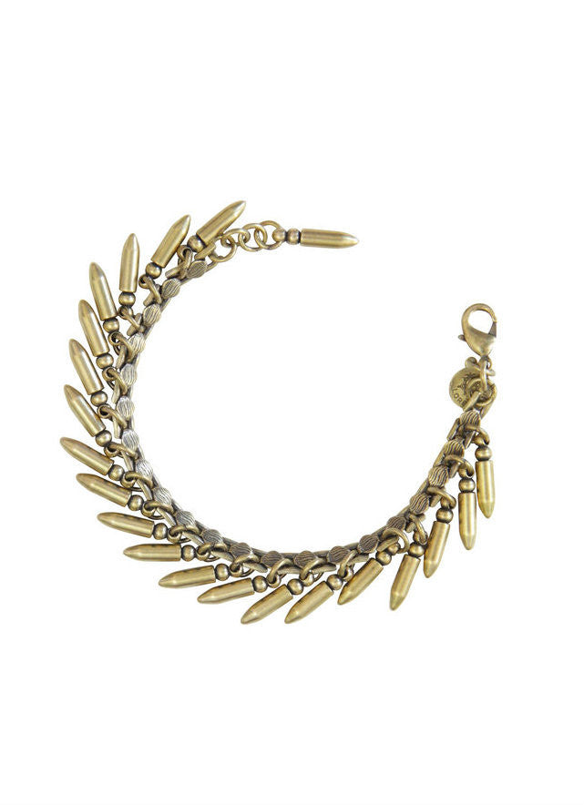 BULLET BRACELET IN BRASS