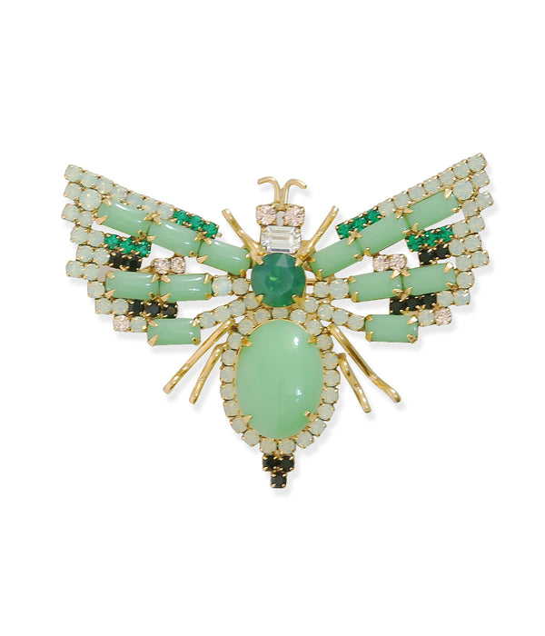 Large Bee in Jade Green / Emerald / Mint