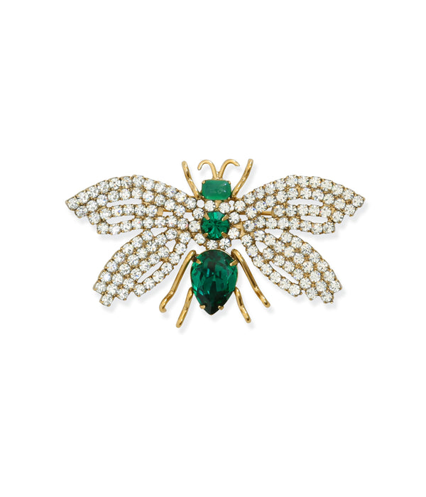 Small Bee in Crystal / Emerald