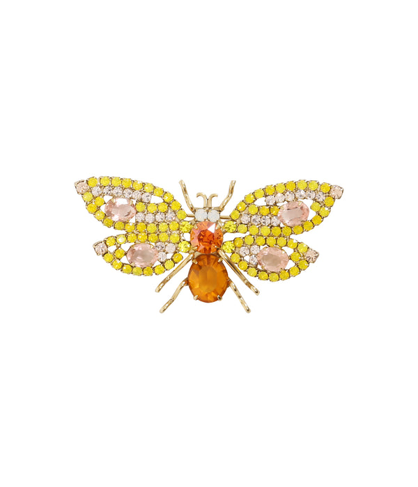 Small Bee in Yellow Opal / Rosaline / Topaz