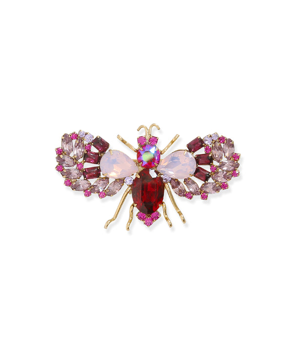 Medium Bee in Fuchsia / Light Amethyst / Rose Opal
