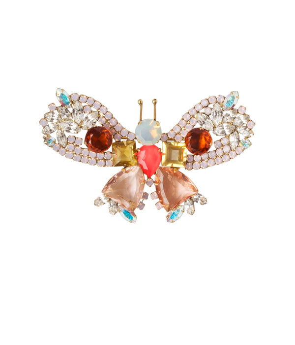 MEDIUM BUTTERFLY IN ROSE OPAL / TOPAZ