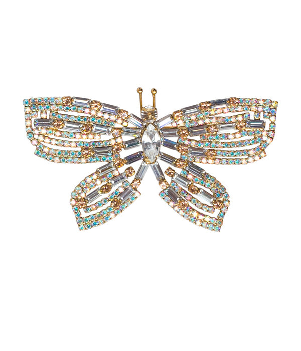 MEDIUM BUTTERFLY IN CRYSTAL / IRIDESCENT