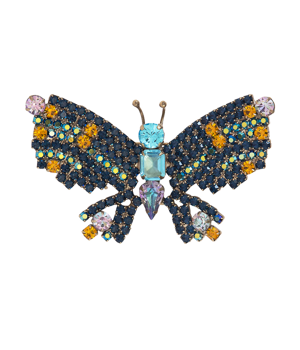 Medium Butterfly in Midnight Blue / Topaz / Aqua