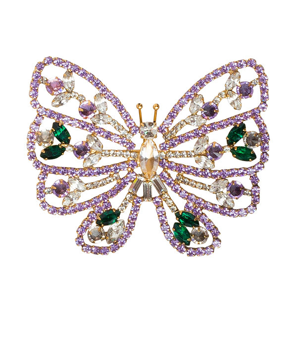 LARGE BUTTERFLY IN VIOLET / EMERALD