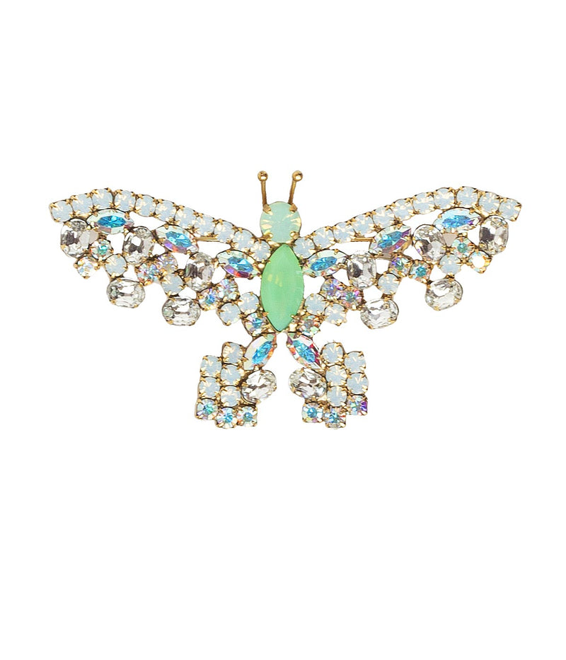 MEDIUM BUTTERFLY IN IRIDESCENT / GREEN OPAL