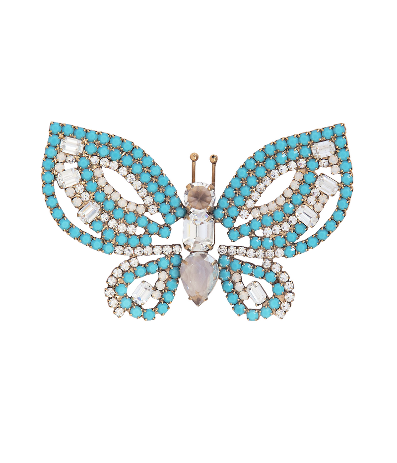 Medium Butterfly in Turquoise / Crystal