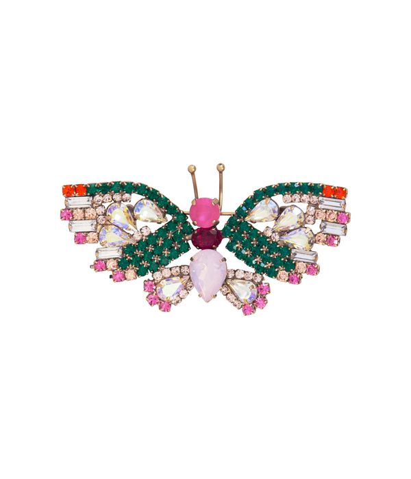 Small Butterfly in Emerald / Rose / Hyacinth