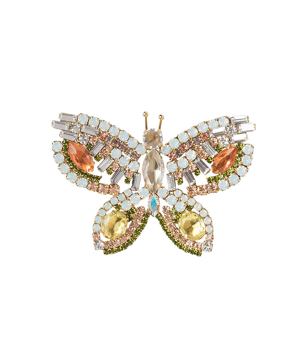 MEDIUM BUTTERFLY IN PEACH/TOPAZ/JONQUIL