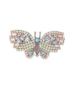 Small Butterfly in Mint Opal / Vitrial Light Blue