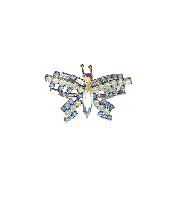 X-SMALL BUTTERFLY IN WHITE / IRIDESCENT / CRYSTAL