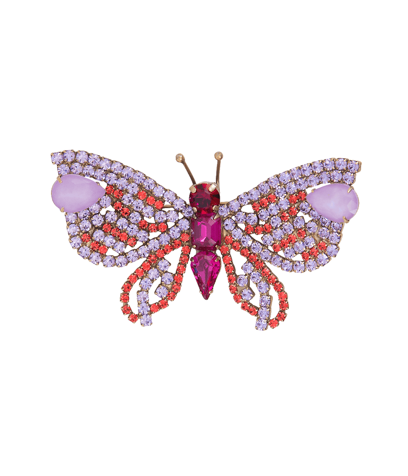 Medium Butterfly in Violet / Coral / Fuchsia