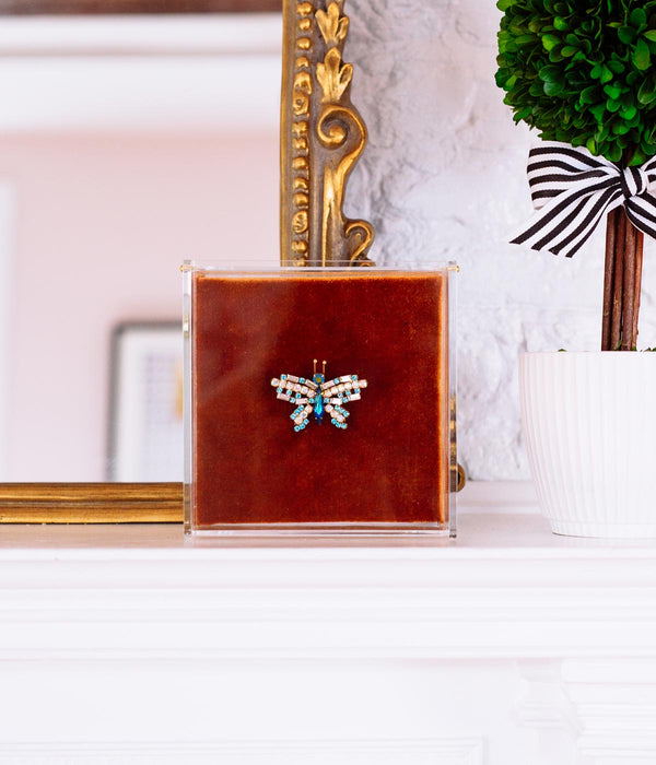 X-SMALL BUTTERFLY IN AQUA / IRIDESCENT