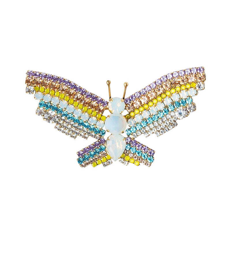 MEDIUM BUTTERFLY IN AQUA / WHITE / VIOLET