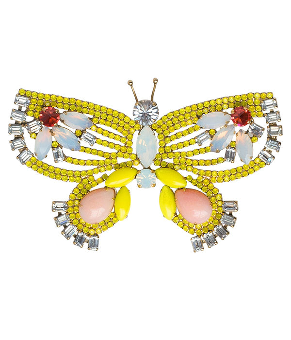 X-LARGE BUTTERFLY IN YELLOW / WHITE / CORAL