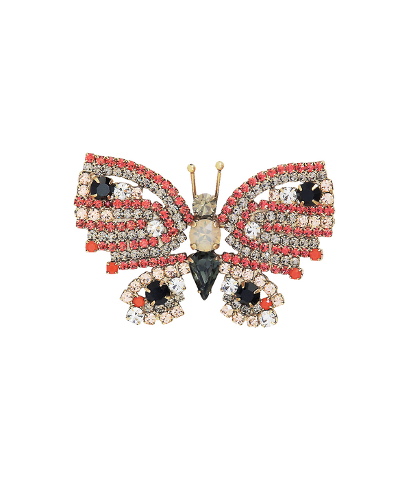 Small Butterfly in Coral / Black Diamond / Peach