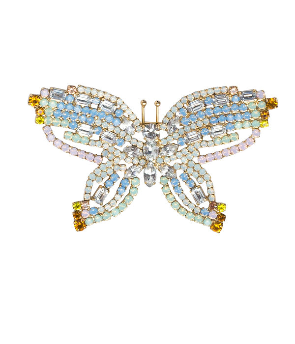 MEDIUM BUTTERFLY IN BLUE OPAL / WHITE / TOPAZ