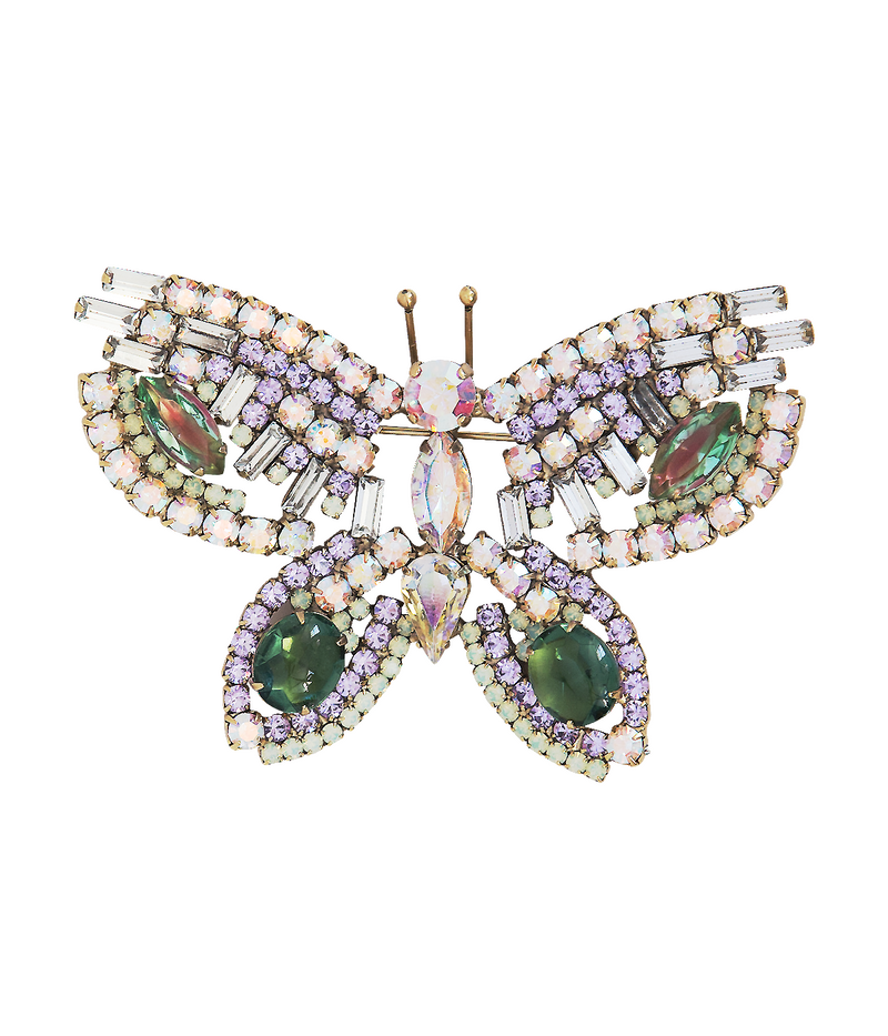 Large Butterfly in Violet / Seraphine Green / Iridescent