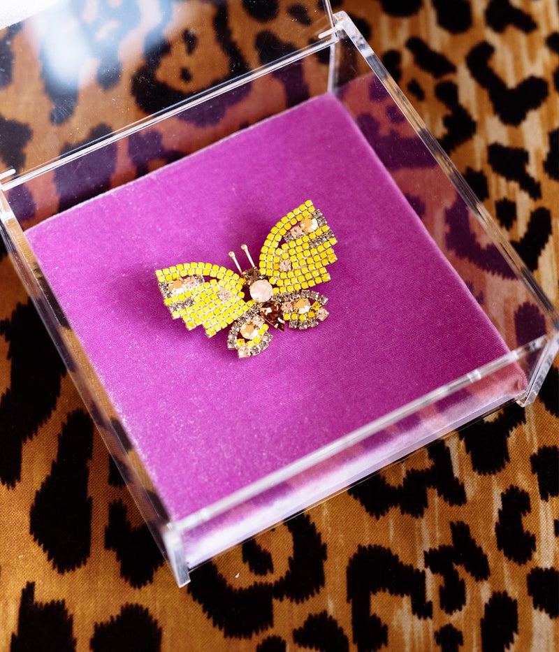 SMALL BUTTERFLY IN YELLOW / PEACH / TOPAZ