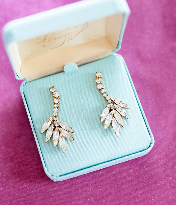 Medium Vintage Style Aqua Gift Box (For Drop Earrings)