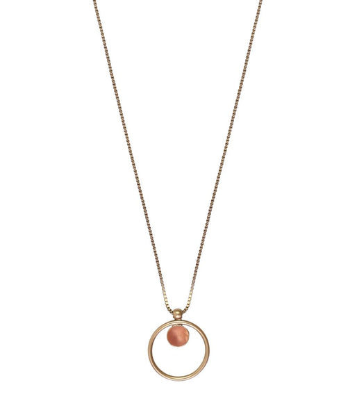 CECELIA PENDANT NECKLACE IN PEACH