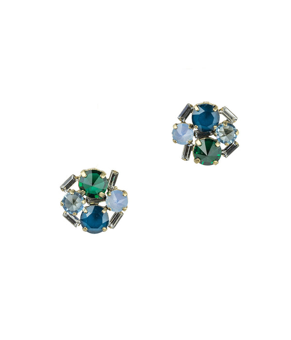 Charlotte Studs in Green