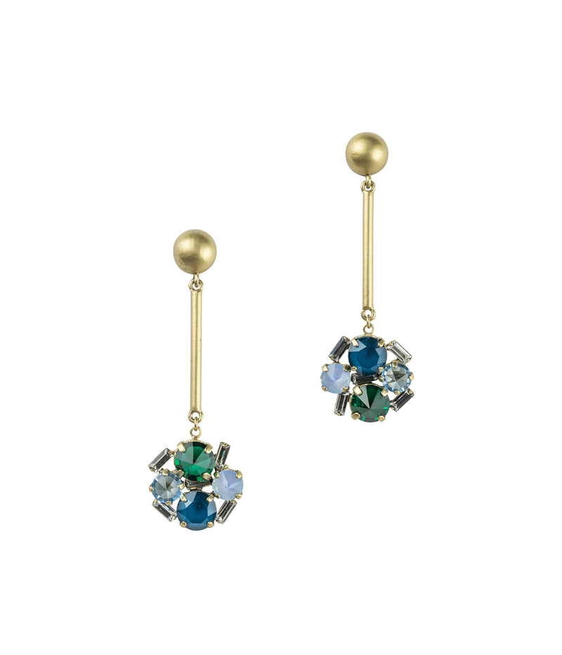 CHARLOTTE DROP EARRINGS IN GREEN
