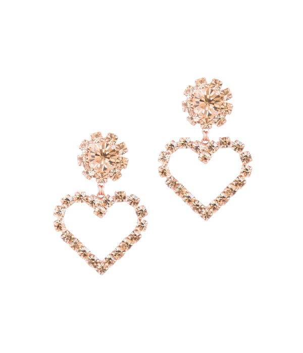 Cupid Earrings in Rose Gold