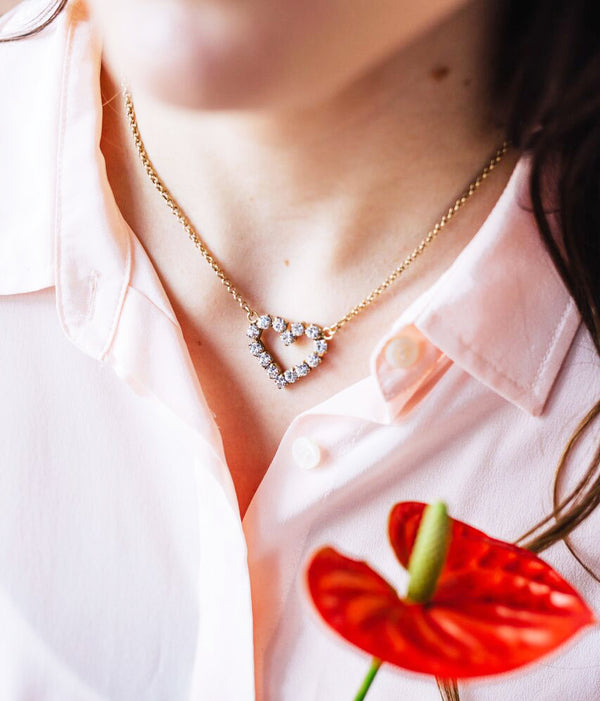 CUPID NECKLACE IN CRYSTAL