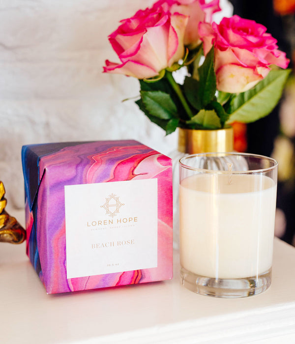 Beach Rose Soy Candle