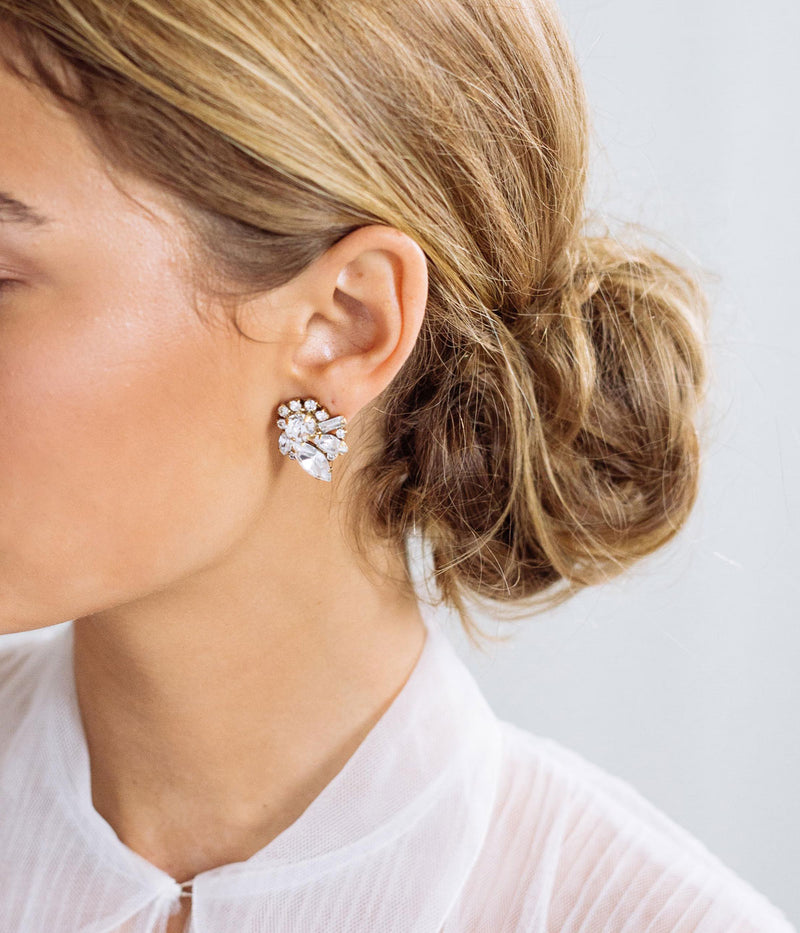 CYNTHIA STUDS IN CRYSTAL